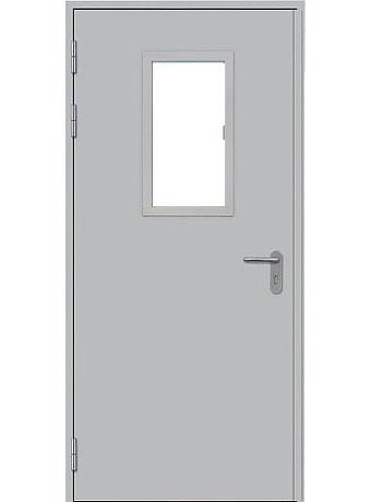 Дверь противопожарная однопольная с остеклением типа ДПМО-1