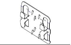Кляммер рядовой навесной фасадной системы