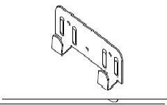 Кляммер концевой навесной фасадной системы