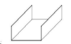 Профиль П-бразный навесной фасадной системы