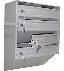 Металлический почтовый ящик (4 секции)