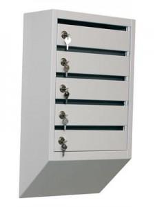 Металлический почтовый ящик (5 секций)