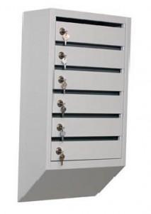 Металлический почтовый ящик (6 секций)