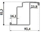 Профиль дверной в сборе, L = 1 м