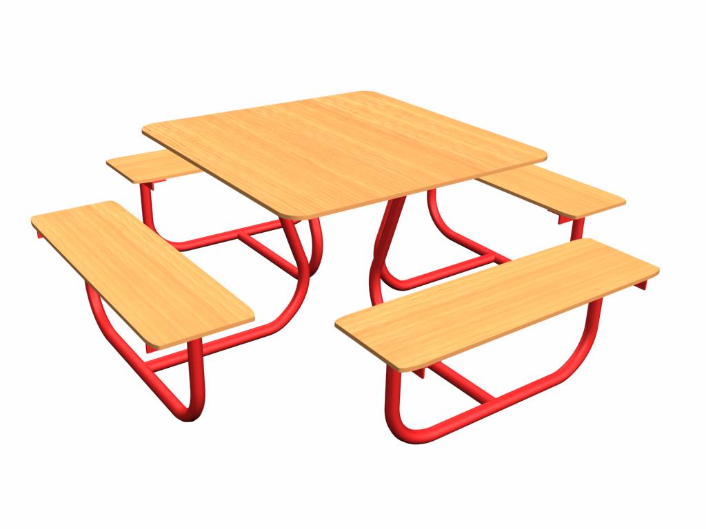 Стол и 4 скамьи, СС-1