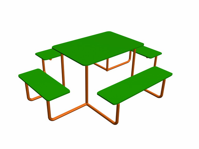 Стол и 4 скамьи, СС-2